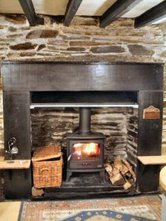 Inglenock Fireplace with Log Burner