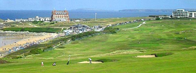 Newquay stunning golf club is 2 minutes walk