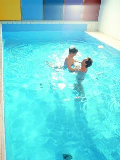 Free use of small indoor pool and sauna