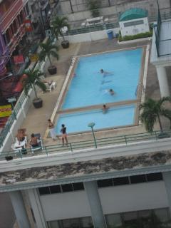 big swimmingpool on the 4th floor