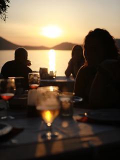 Sunset Drinks in local Restaurant