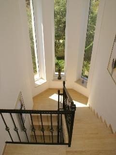 Stairs leading to the upper floor