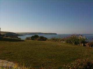 View across the lawn to the east & Thurlestone