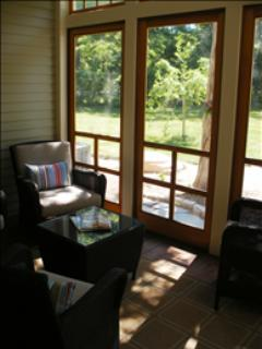 Screened in Porch is Perfect for Morning Coffee