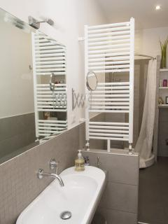 Your elegant and fully equipped bathroom complete with towels heater!