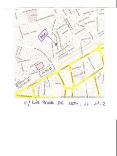 Plano para saber llegar de la estación del tren y autobús