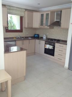 Fully fitted Kitchen, full oven/hob, microwave, dishwasher, fridge/freezer, toaster, kettle, etc.