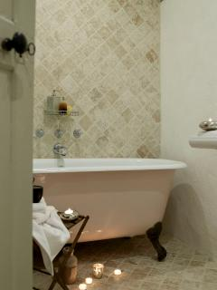 One of the en suite bathrooms
