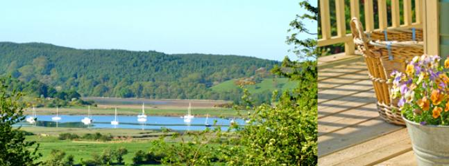 The view from the deck out to the Solway yacht Club moorings