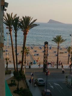 Vistas desde la terraza hacia la playa