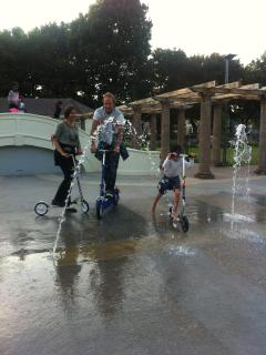 Fun on scooters - enquire about hire