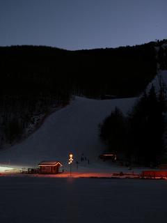 Night skiing at Cerretto Laghi