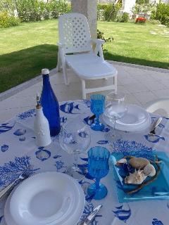 vista del patio e del prato circostante