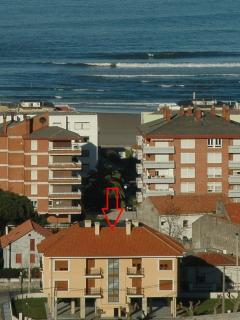 Vista de los apartamentos hasta la playa 150 m.