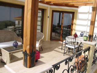 Balcony overlooking pool for 'al fresco' eating