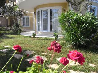French doors open onto garden