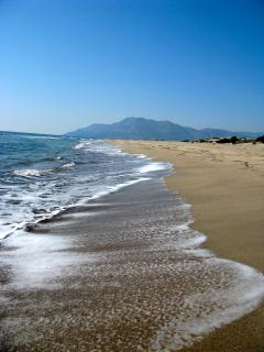 Beautiful Patara beach is only a 20 minute drive away