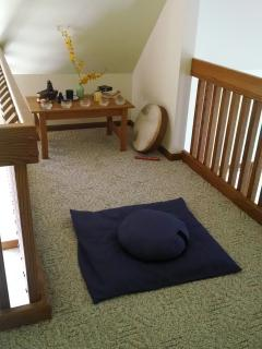 Upstairs meditation area