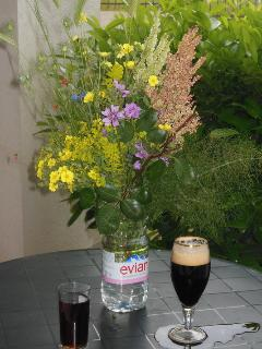 The terrace is a great place for a drink and displaying the local wildflowers!!