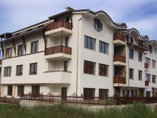 Our apartment is on the second floor and is south facing with views to the Pirin Mountains.
