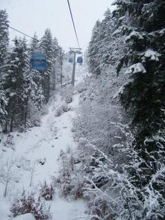 Taking the gondola from Bankso up to the mountain