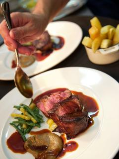 Delicouse food cooked by Michelin starred chef Rob Clayton