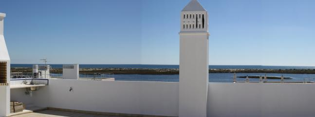 Part of view from the roof terrace (left half of panorama)