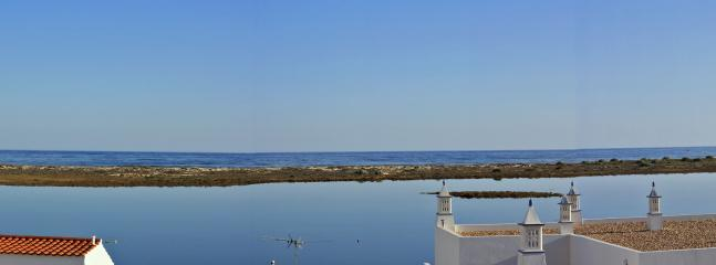 Ria Formosa from the roof terrace (left half of panorama)