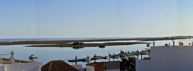 Ria Formosa from the roof terrace (right half of part of panorama)