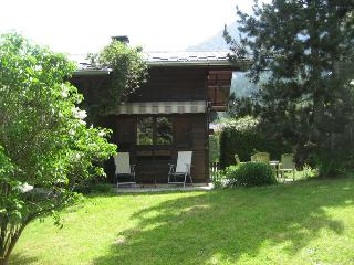 Detached chalet and large garden with views to Mont Blanc mountain range, Les Houches