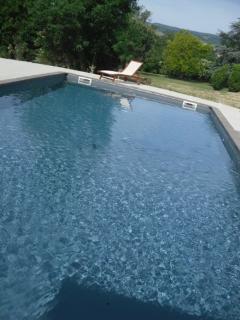 la piscine chauffée et partagée