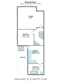 Plan of apartment