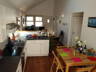Starboard kitchen and dining area