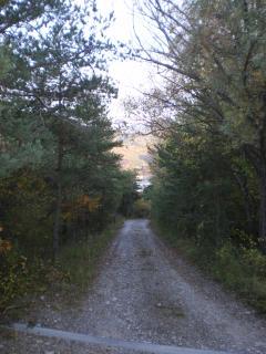 chemin d'accès , mais on peut aussi arriver par la route si le chemin est enneigé