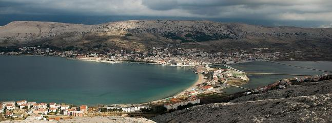 View of the bay of Pag