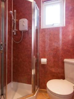 Shower room with power shower