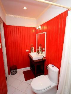 Red Powder room