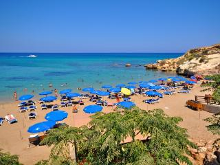 The beautiful Fireman's Beach is a short stroll from Villa Diana.