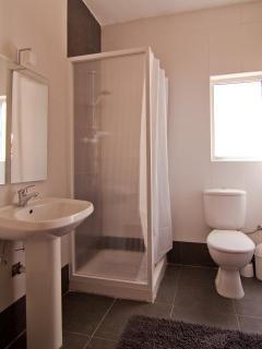 Modern/new bathroom shower & WC