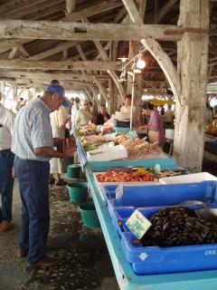 Wednesday is market day in Cozes