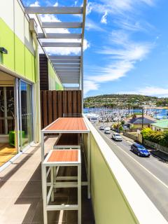 lovely views over Kangaroo Bay and Marina fom apartment balcony