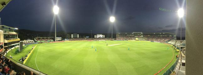 Bellerive Oval Cricket at night