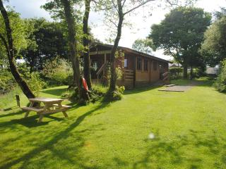 Brynmeini Lake Lodge, Near Crymych, Pembrokeshire. 2 bedrooms. Sleeps 4.