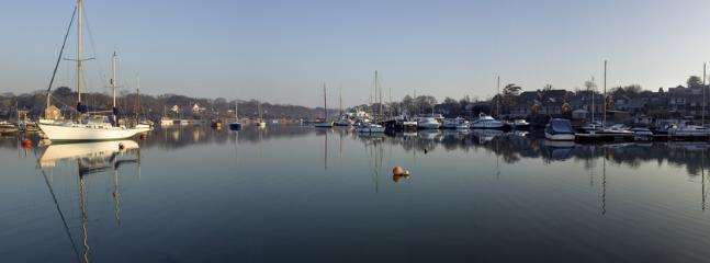 Harbours like this surround the island