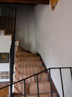 the staris of the apartment Trossa