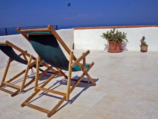Deck chairs on the terrace