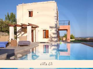 Villa,view of Cretan landscape,private pool,garden, Chania