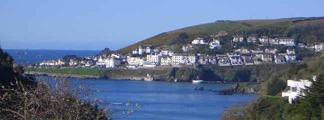 View from Highwood towards West Looe and Banjo Pier