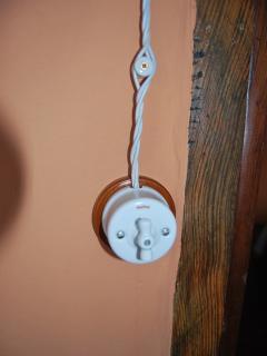 Detalle de los interruptores de corriente