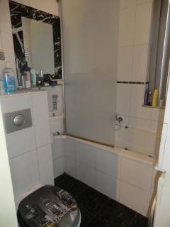 Bathroom with jet stream bathtub